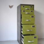 archivador reindustrializado vista oblicua abierto