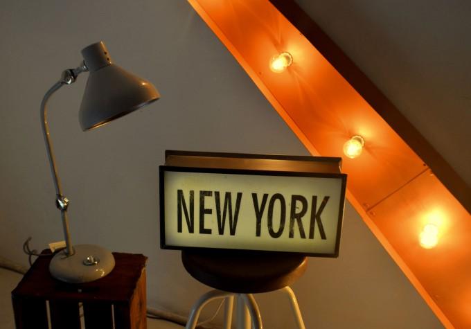 Cartel de NEW YORK vista de cerca