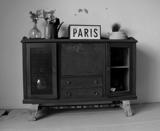 Cartel de PARIS en blanco y negro
