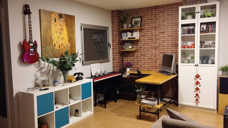 Trabajo en apartamento vista general