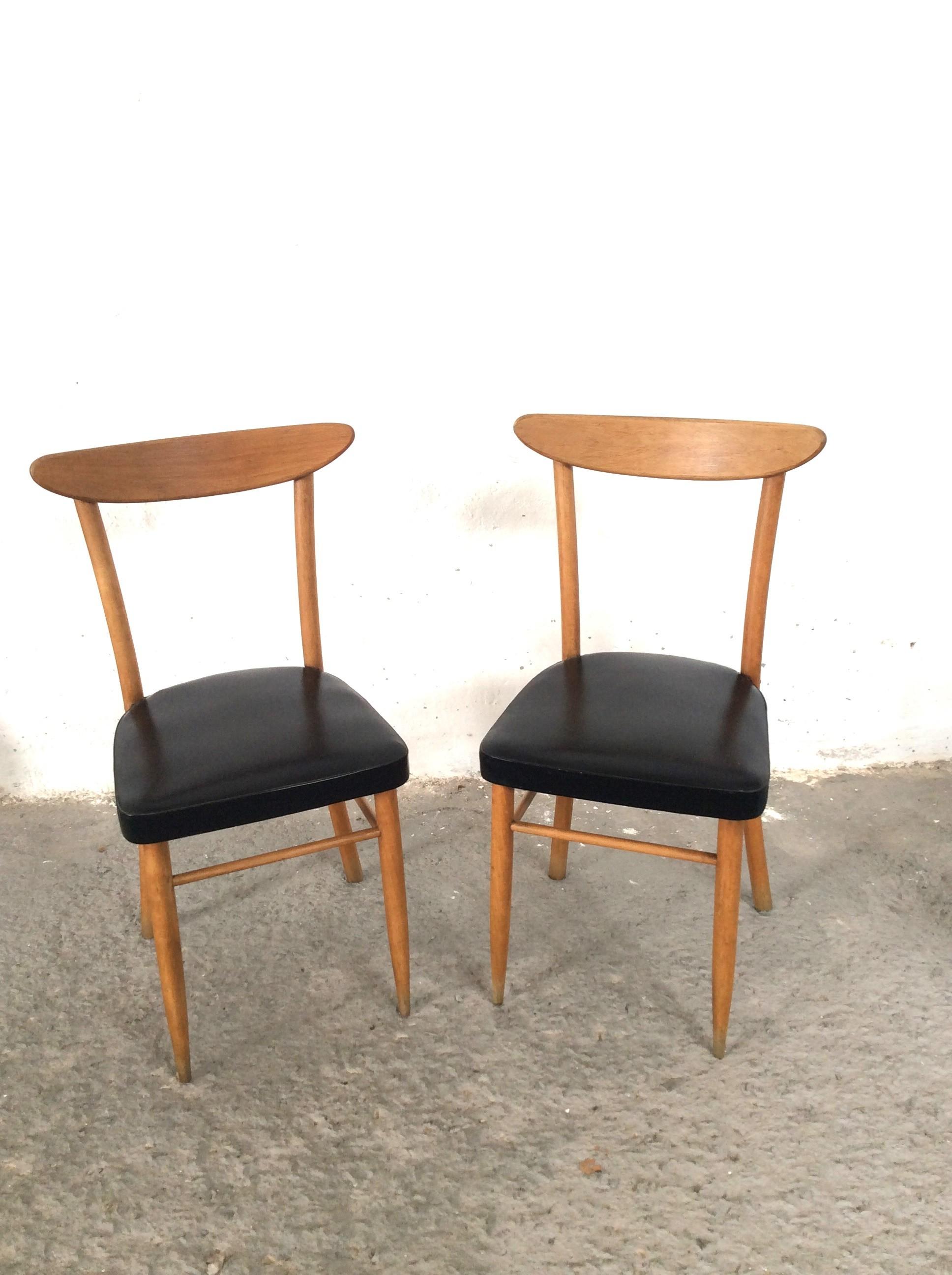 Pareja de sillas estilo n rdico a os 60 polonium 209 - Sillas anos 60 ...