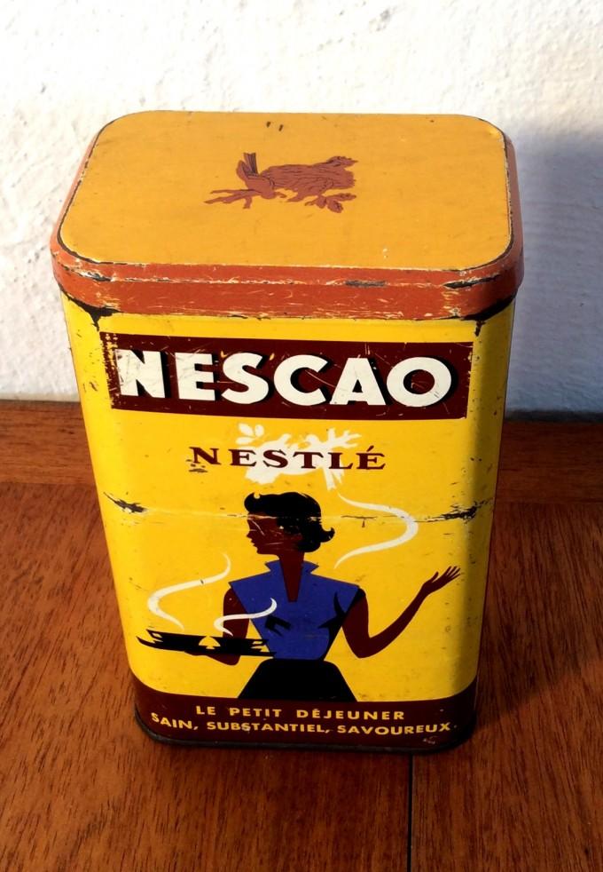 BOTE NESCAO AÑOS 50
