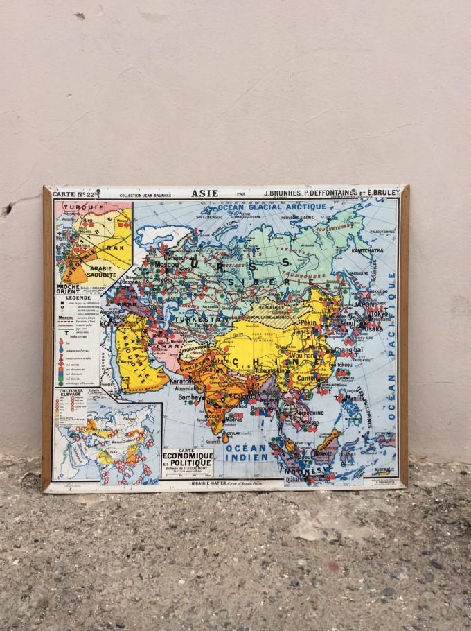 MAPA DE ASIA (AÑOS 40)