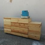 mostrador madera reciclada