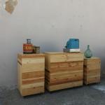 mostrador madera reciclada módulos
