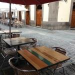 mesa industrial terraza restaurante